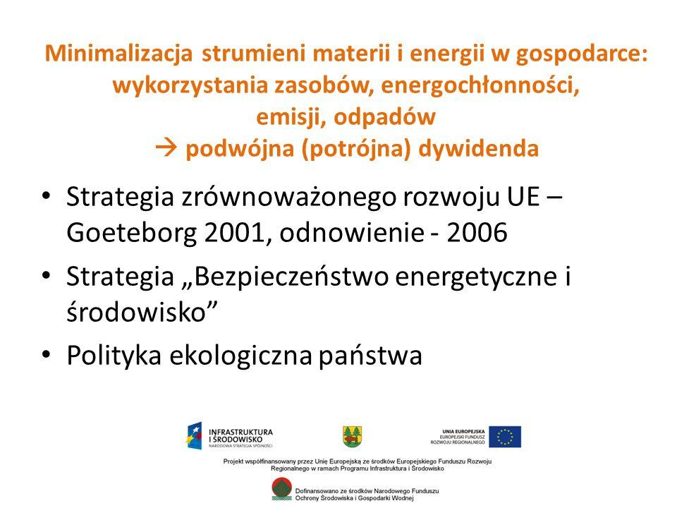 """Strategia """"Bezpieczeństwo energetyczne i środowisko"""