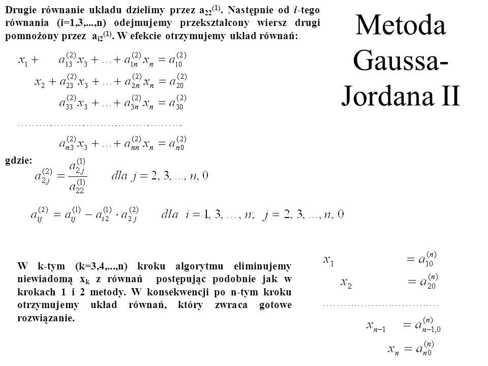 Metoda Gaussa-Jordana II