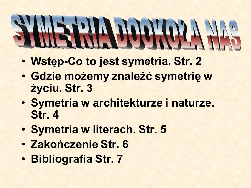SYMETRIA DOOKOŁA NAS Wstęp-Co to jest symetria. Str. 2