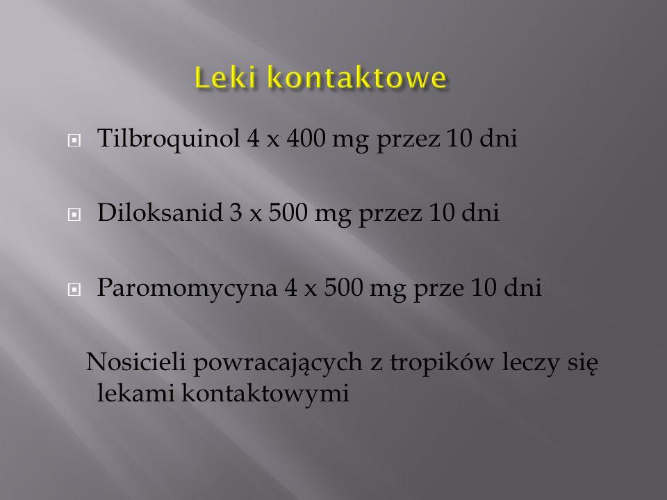 Leki kontaktowe Tilbroquinol 4 x 400 mg przez 10 dni