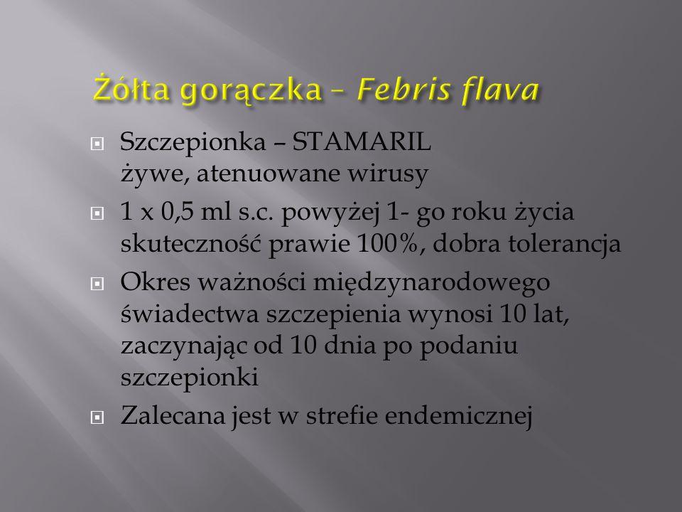 Żółta gorączka – Febris flava