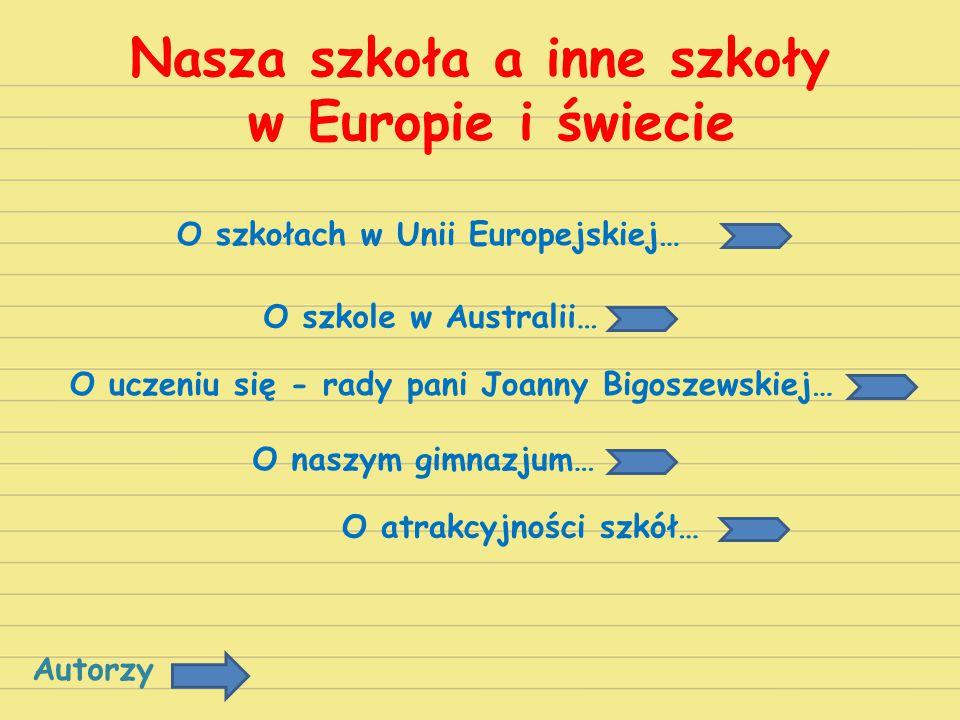Nasza szkoła a inne szkoły w Europie i świecie