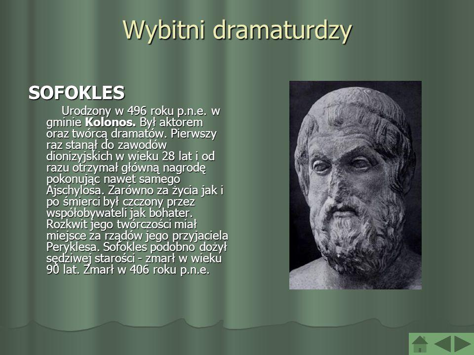 Wybitni dramaturdzy SOFOKLES