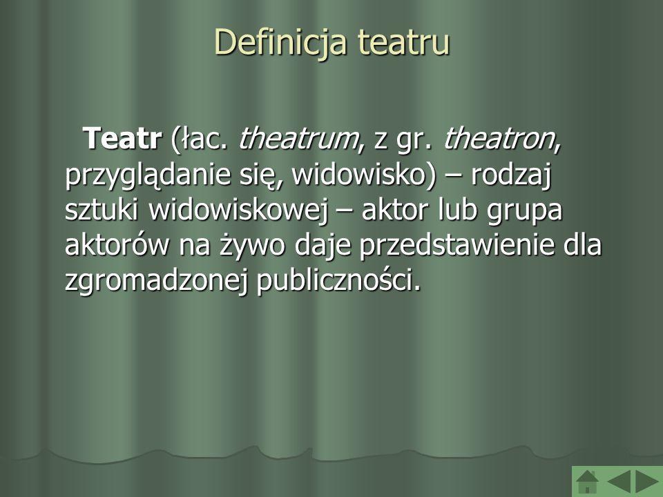 Definicja teatru
