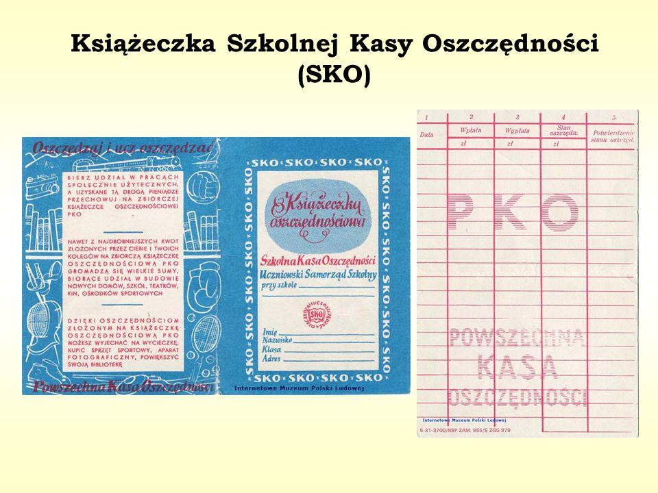 Książeczka Szkolnej Kasy Oszczędności (SKO)