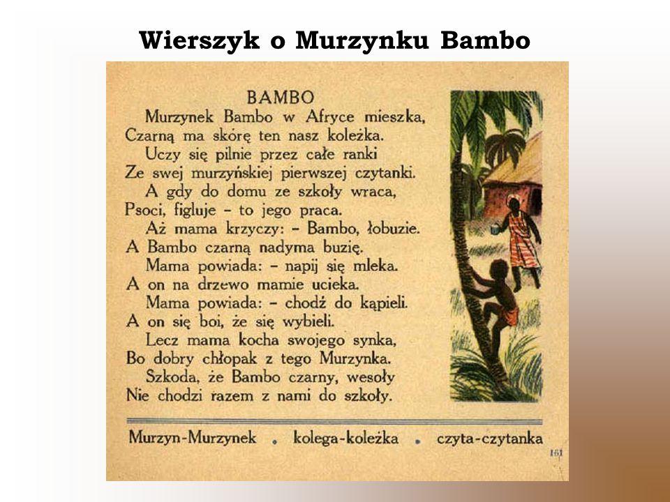 Wierszyk o Murzynku Bambo