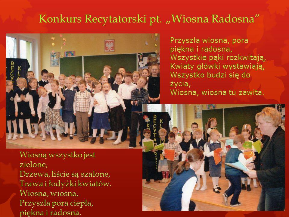 "Konkurs Recytatorski pt. ""Wiosna Radosna"