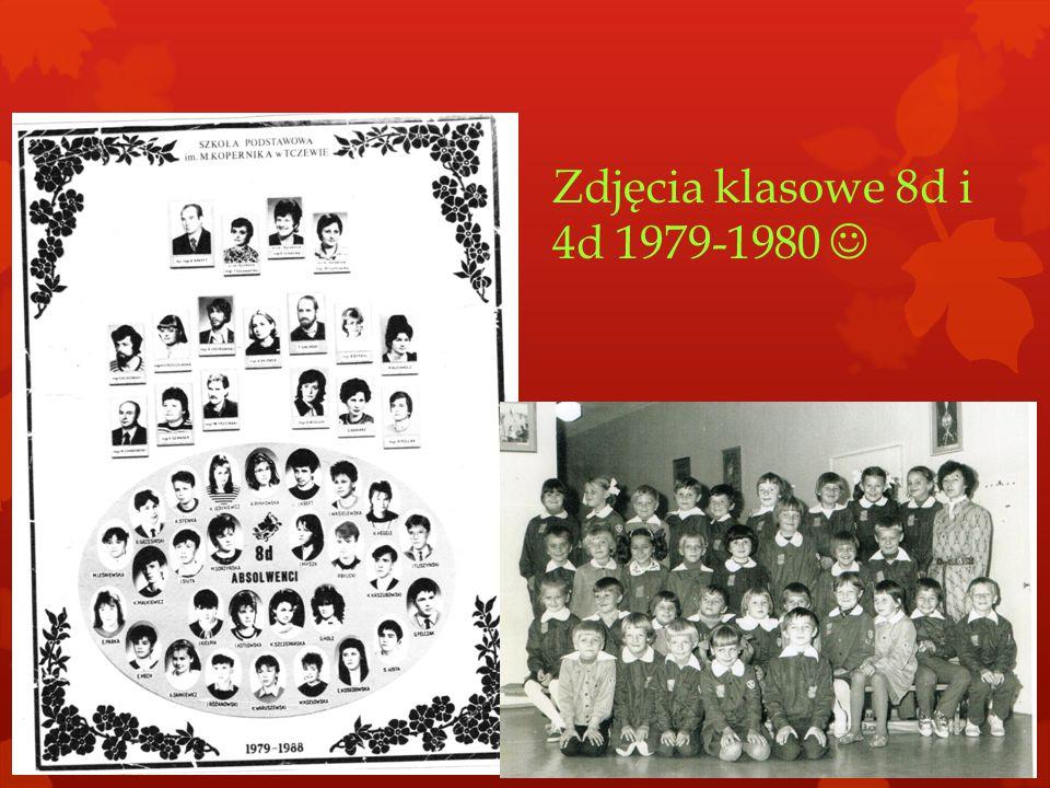 Zdjęcia klasowe 8d i 4d 1979-1980 