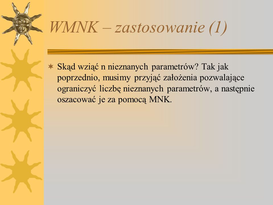 WMNK – zastosowanie (1)