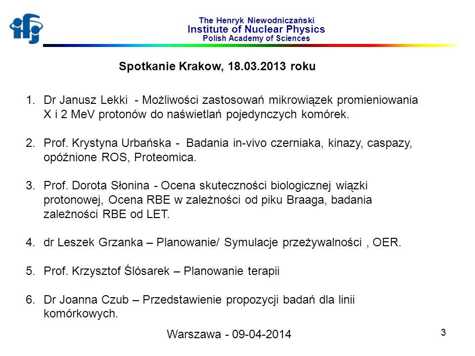 dr Leszek Grzanka – Planowanie/ Symulacje przeżywalności , OER.