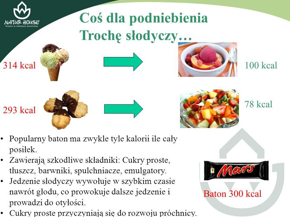 Coś dla podniebienia Trochę słodyczy… 314 kcal 100 kcal 78 kcal