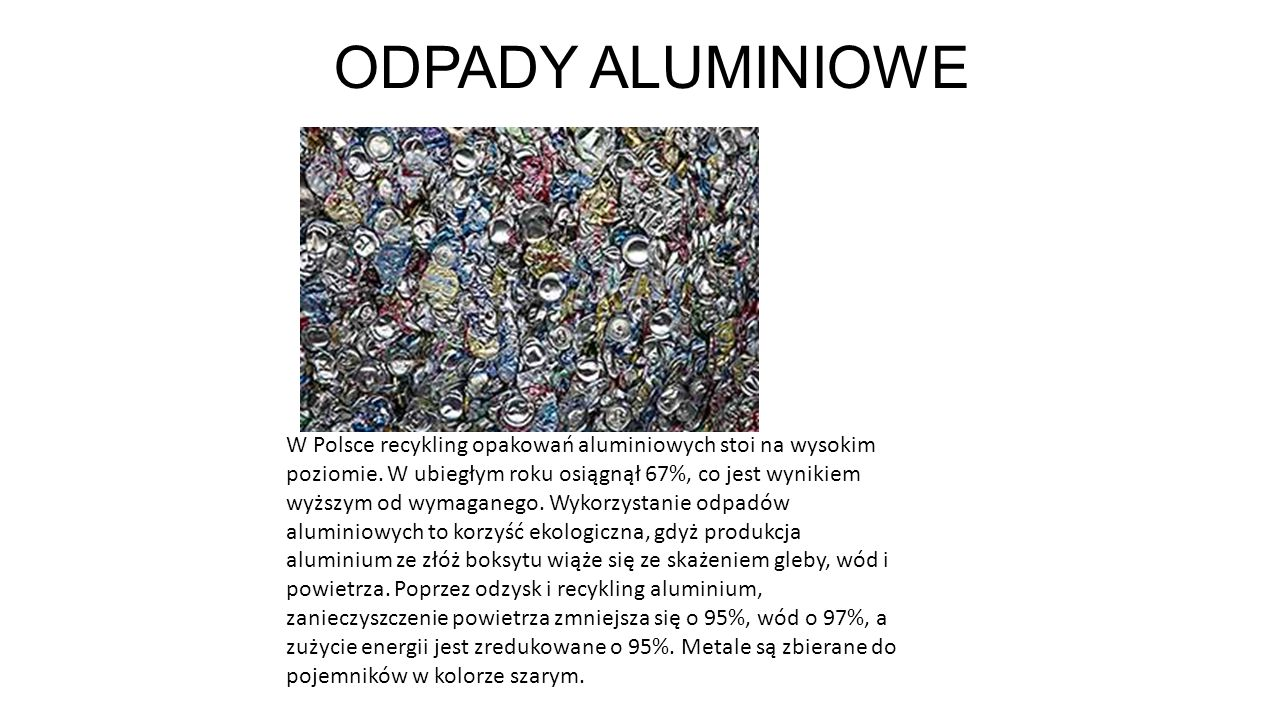 ODPADY ALUMINIOWE