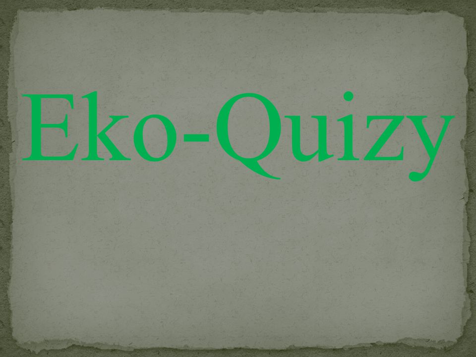 Eko-Quizy