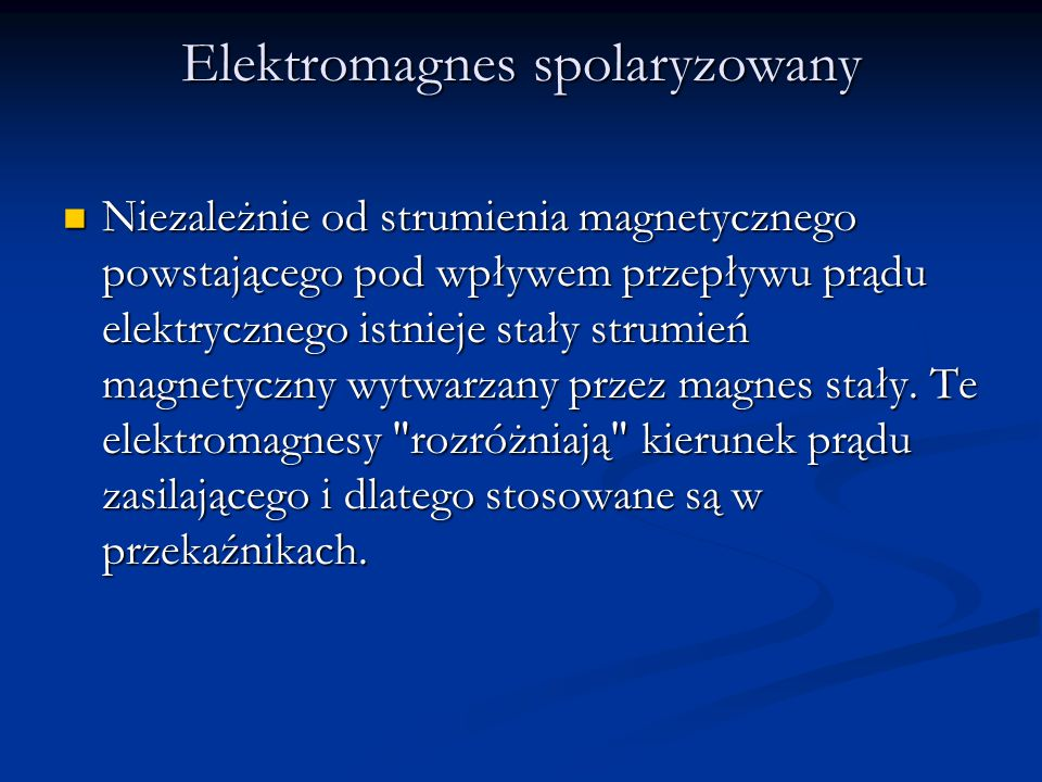 Elektromagnes spolaryzowany