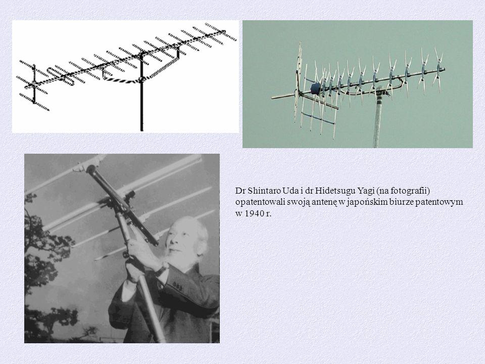 Dr Shintaro Uda i dr Hidetsugu Yagi (na fotografii) opatentowali swoją antenę w japońskim biurze patentowym w 1940 r.