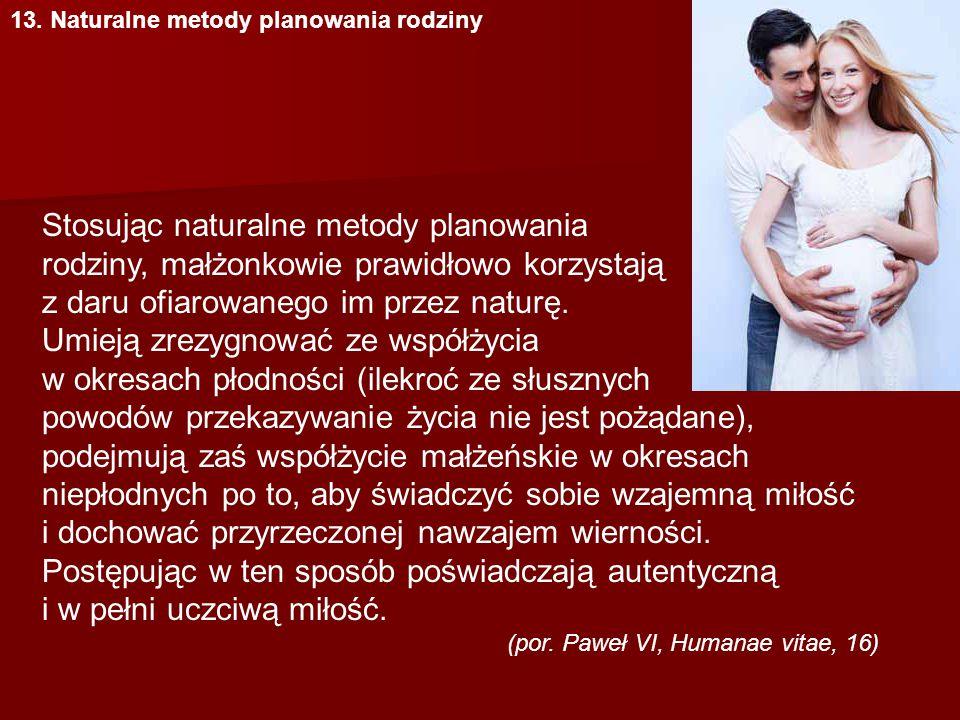 13. Naturalne metody planowania rodziny