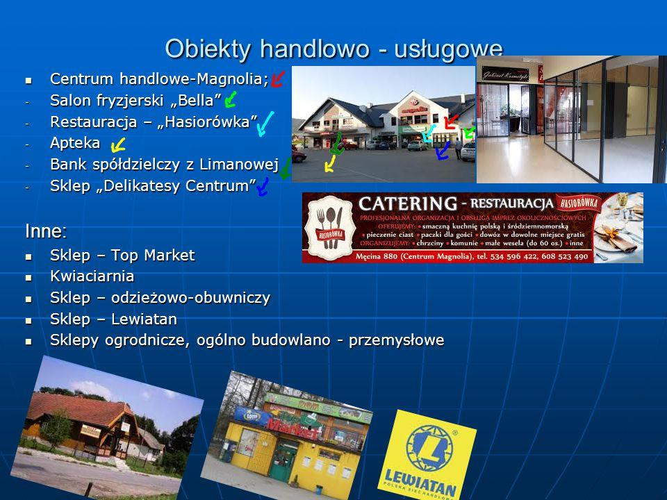 Obiekty handlowo - usługowe