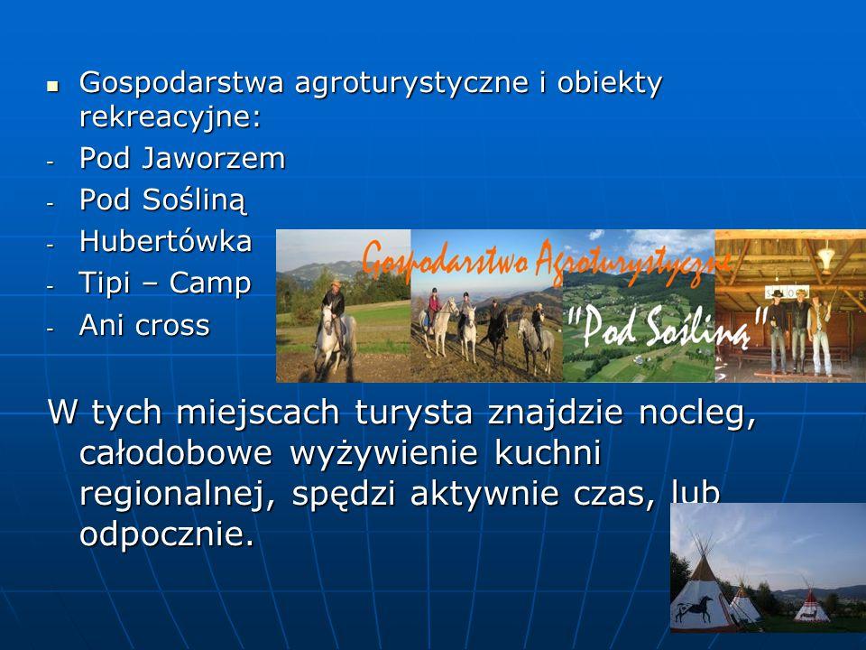 Gospodarstwa agroturystyczne i obiekty rekreacyjne: