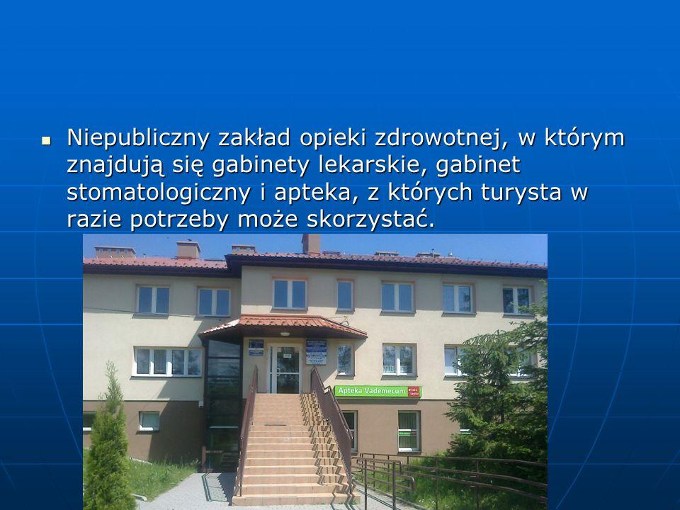Niepubliczny zakład opieki zdrowotnej, w którym znajdują się gabinety lekarskie, gabinet stomatologiczny i apteka, z których turysta w razie potrzeby może skorzystać.