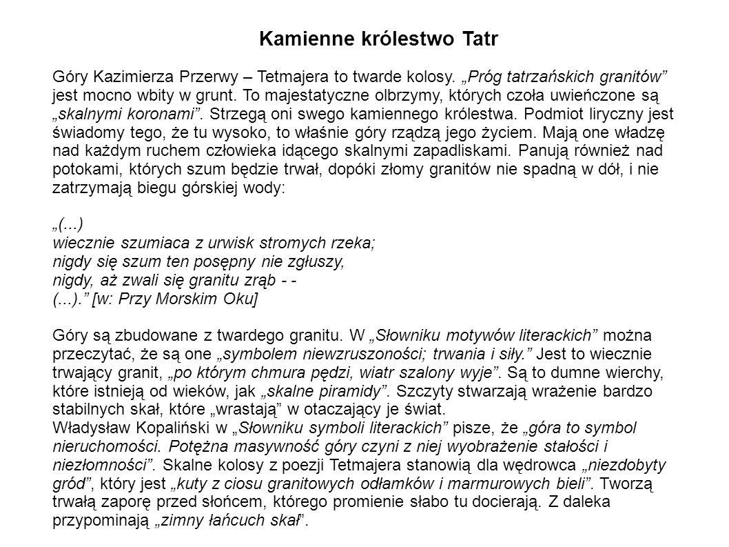 Kamienne królestwo Tatr