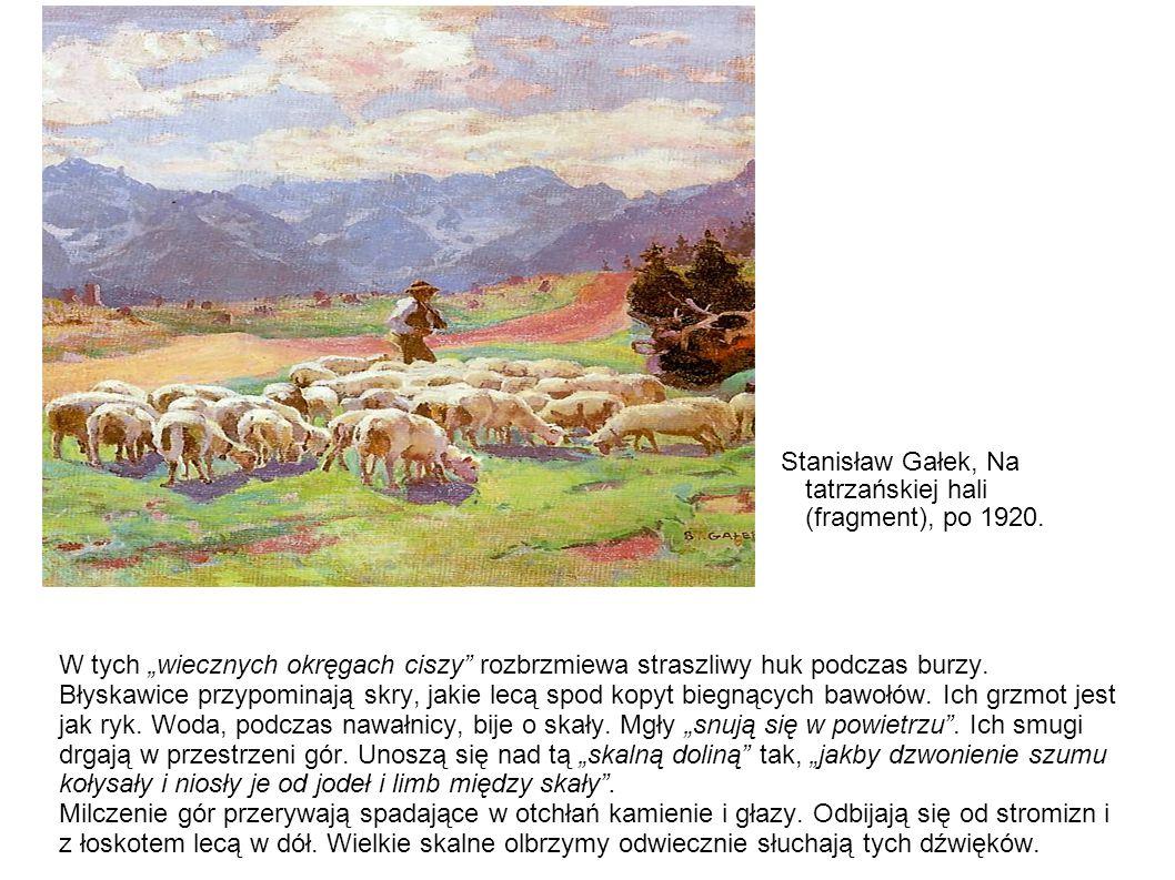 Stanisław Gałek, Na tatrzańskiej hali (fragment), po 1920.
