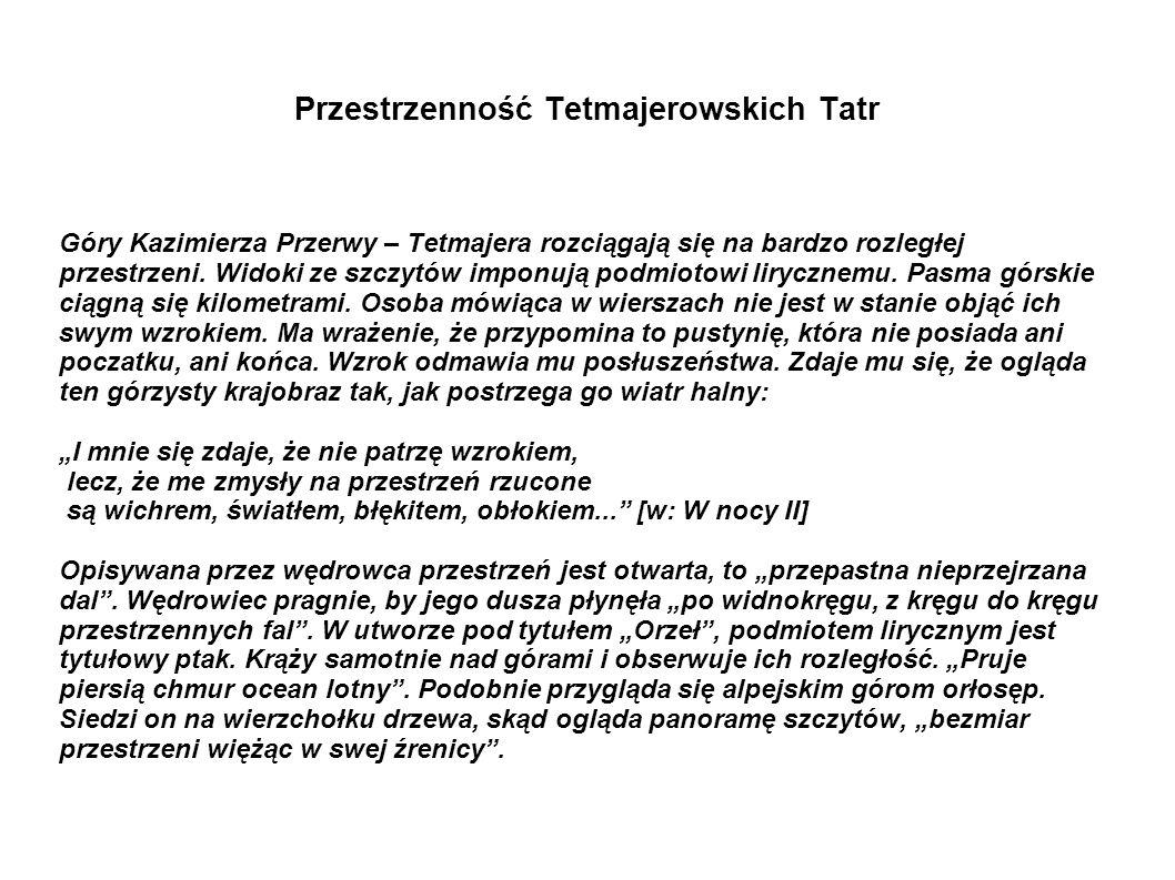 Przestrzenność Tetmajerowskich Tatr