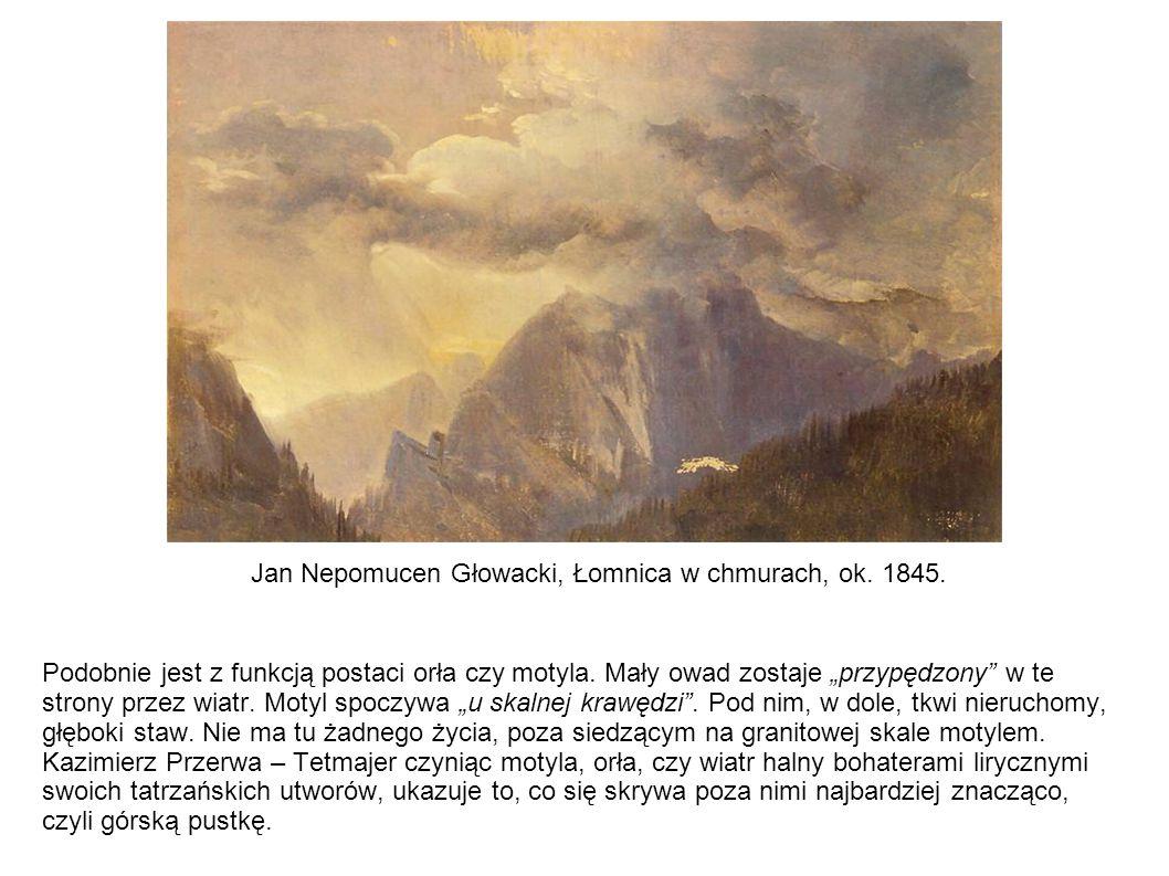 Jan Nepomucen Głowacki, Łomnica w chmurach, ok. 1845.