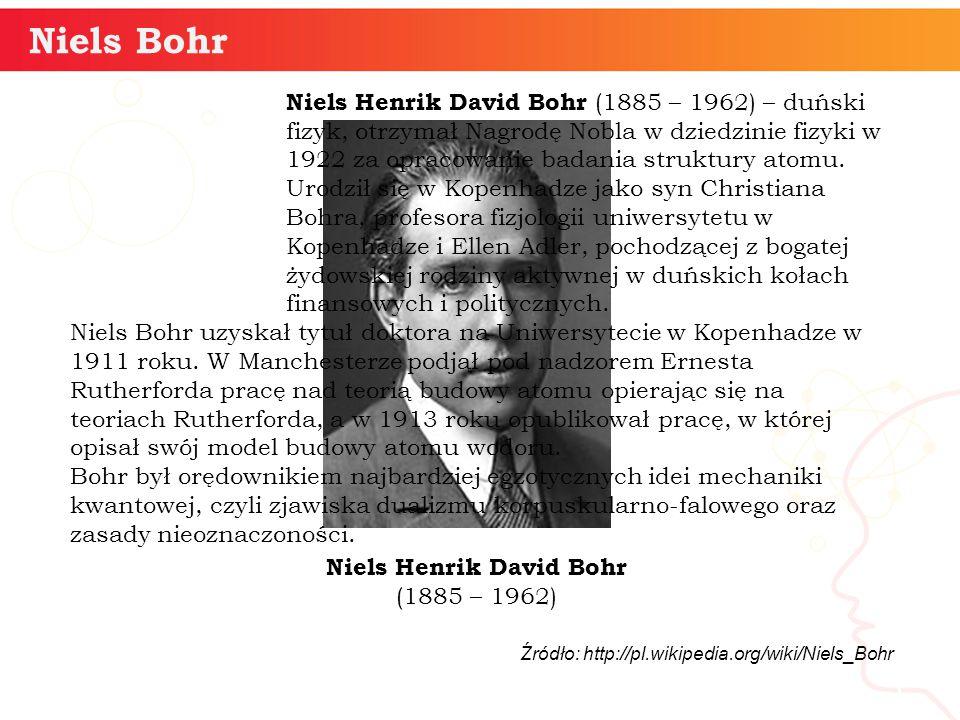 Niels Henrik David Bohr (1885 – 1962)