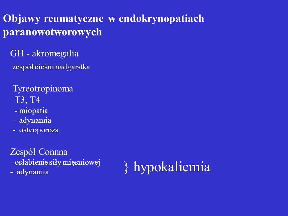 } hypokaliemia Objawy reumatyczne w endokrynopatiach paranowotworowych