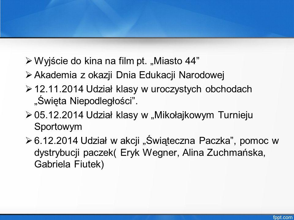 """Wyjście do kina na film pt. """"Miasto 44"""