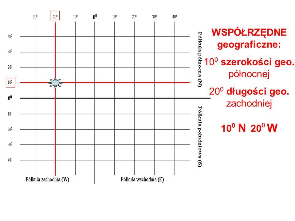 WSPÓŁRZĘDNE geograficzne: