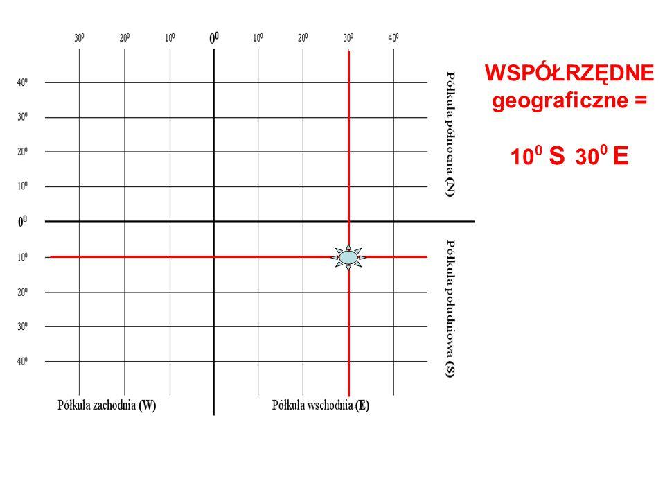 WSPÓŁRZĘDNE geograficzne =