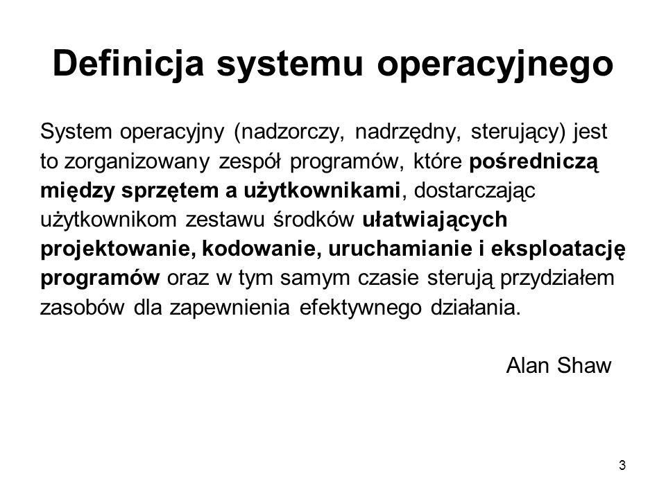 Definicja systemu operacyjnego