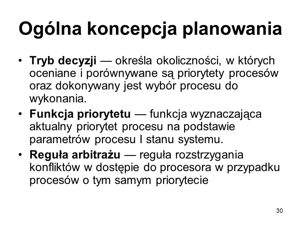 Ogólna koncepcja planowania