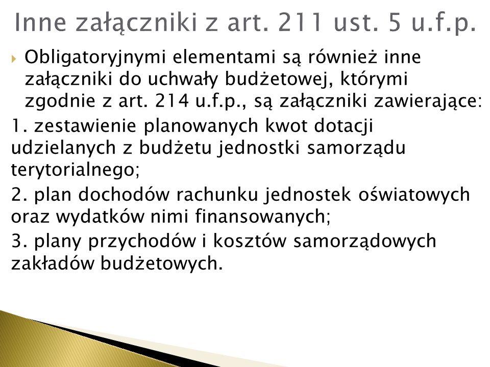 Inne załączniki z art. 211 ust. 5 u.f.p.