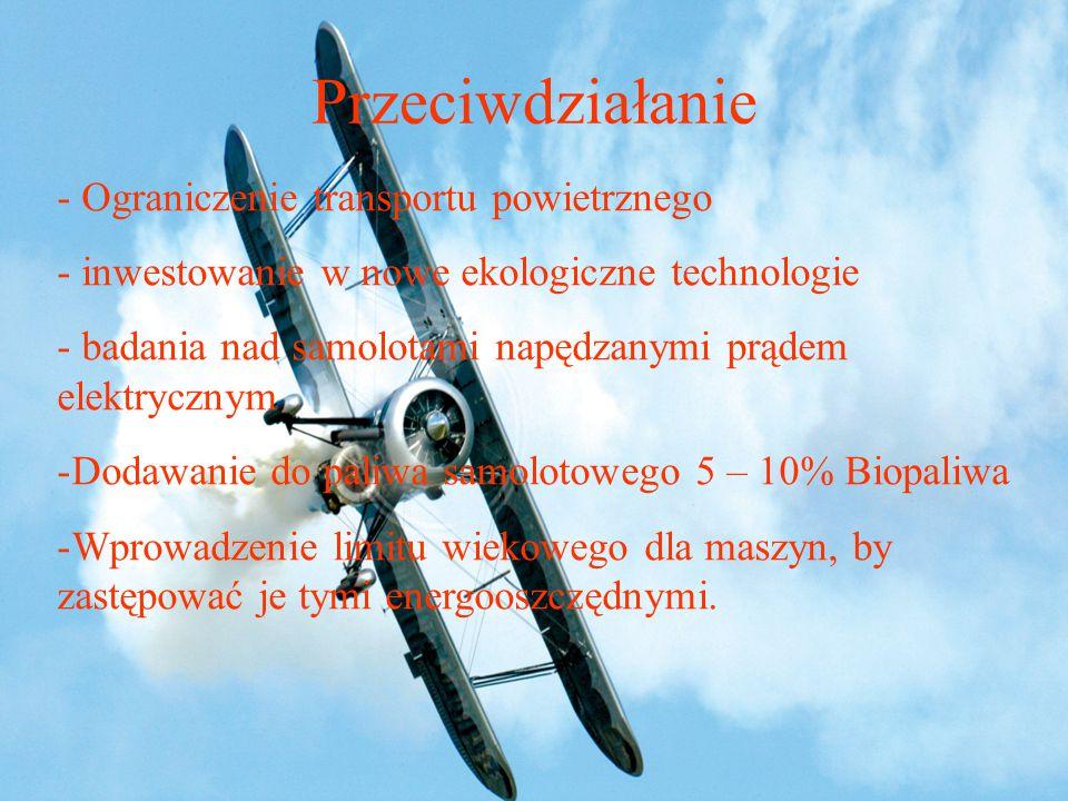 Przeciwdziałanie Ograniczenie transportu powietrznego