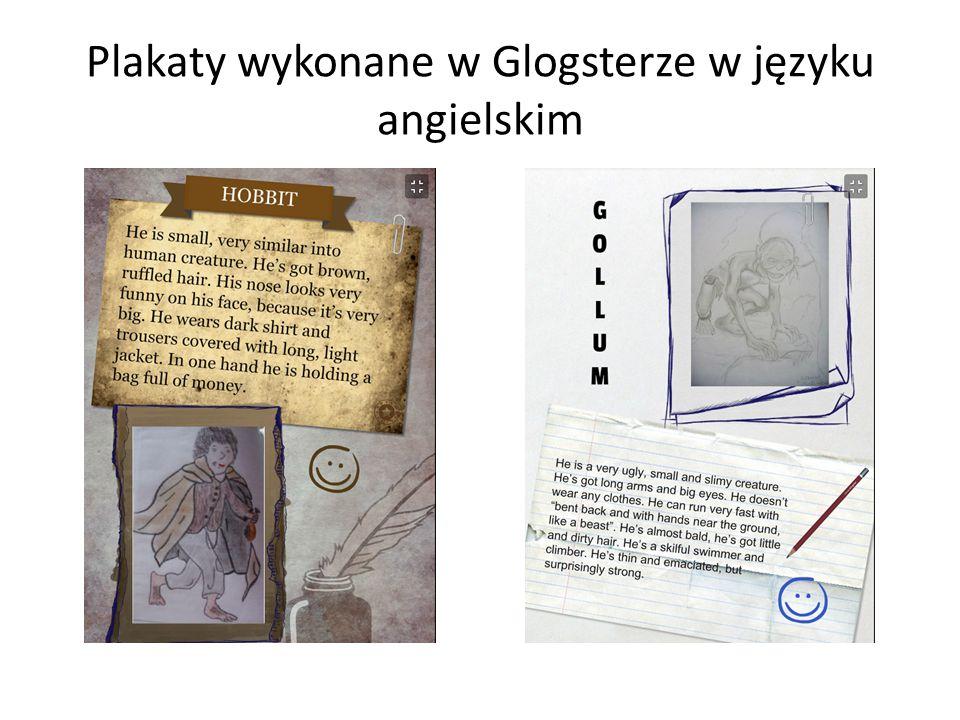 Plakaty wykonane w Glogsterze w języku angielskim