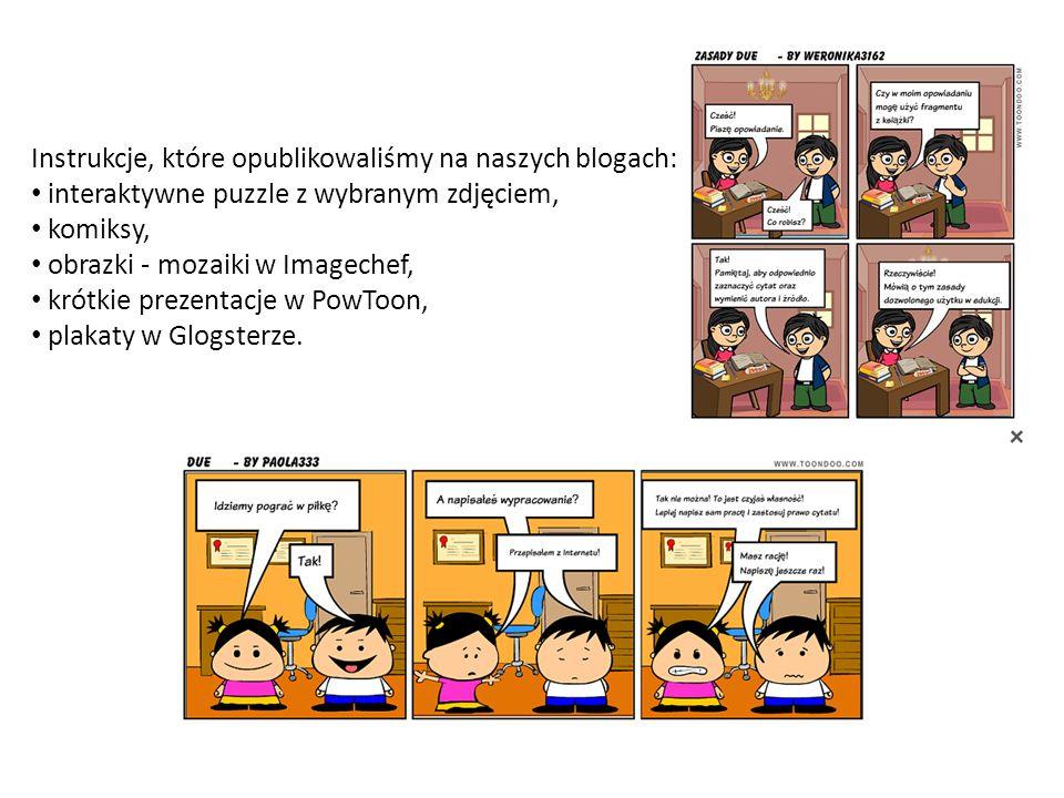 Instrukcje, które opublikowaliśmy na naszych blogach: