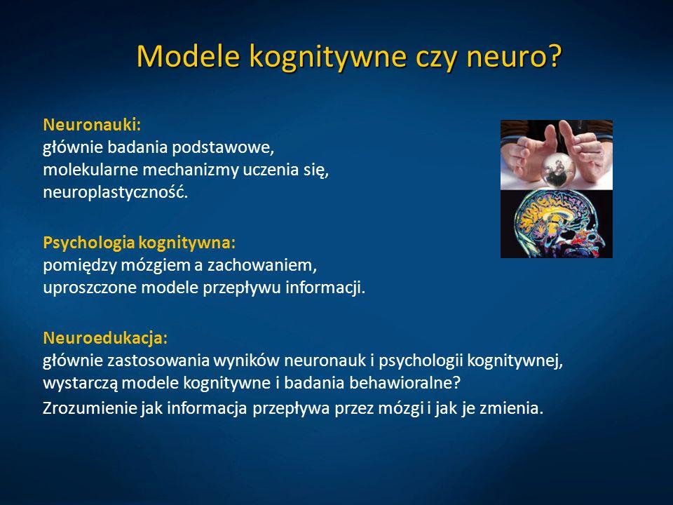 Modele kognitywne czy neuro