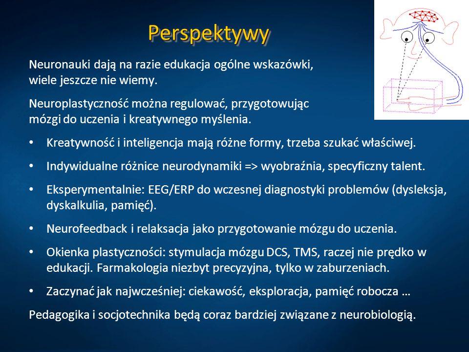 Perspektywy Neuronauki dają na razie edukacja ogólne wskazówki, wiele jeszcze nie wiemy.