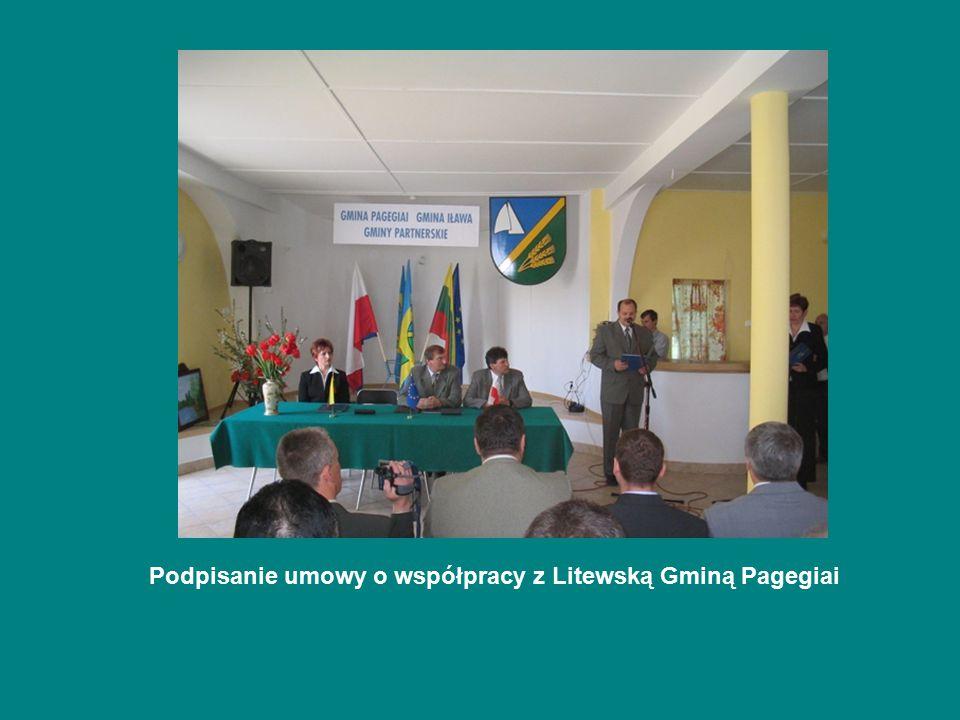 Podpisanie umowy o współpracy z Litewską Gminą Pagegiai