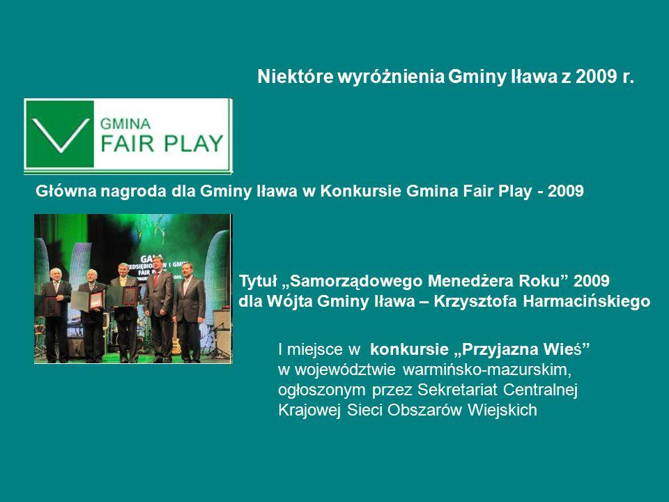 Niektóre wyróżnienia Gminy Iława z 2009 r.