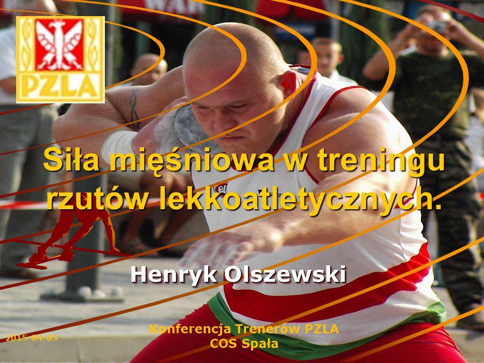 Siła mięśniowa w treningu rzutów lekkoatletycznych.