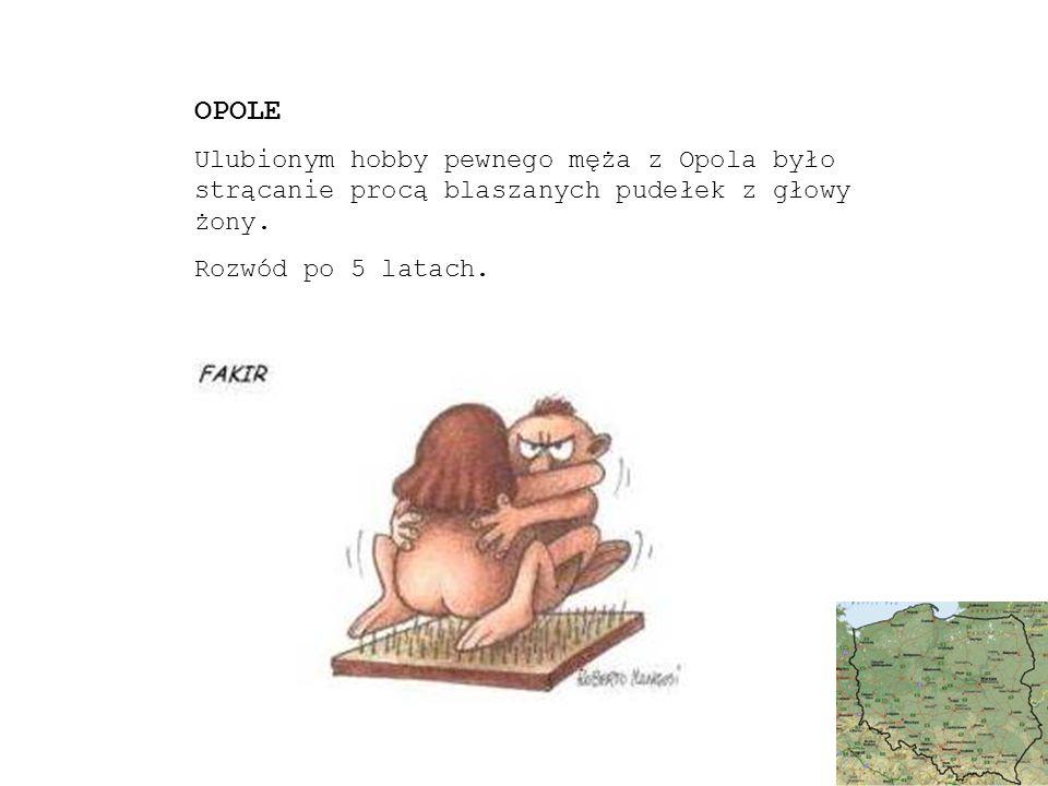 OPOLE Ulubionym hobby pewnego męża z Opola było strącanie procą blaszanych pudełek z głowy żony.