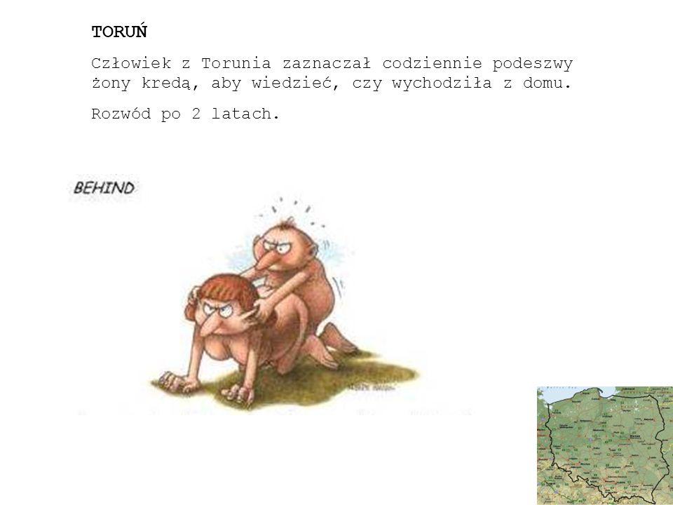 TORUŃ Człowiek z Torunia zaznaczał codziennie podeszwy żony kredą, aby wiedzieć, czy wychodziła z domu.