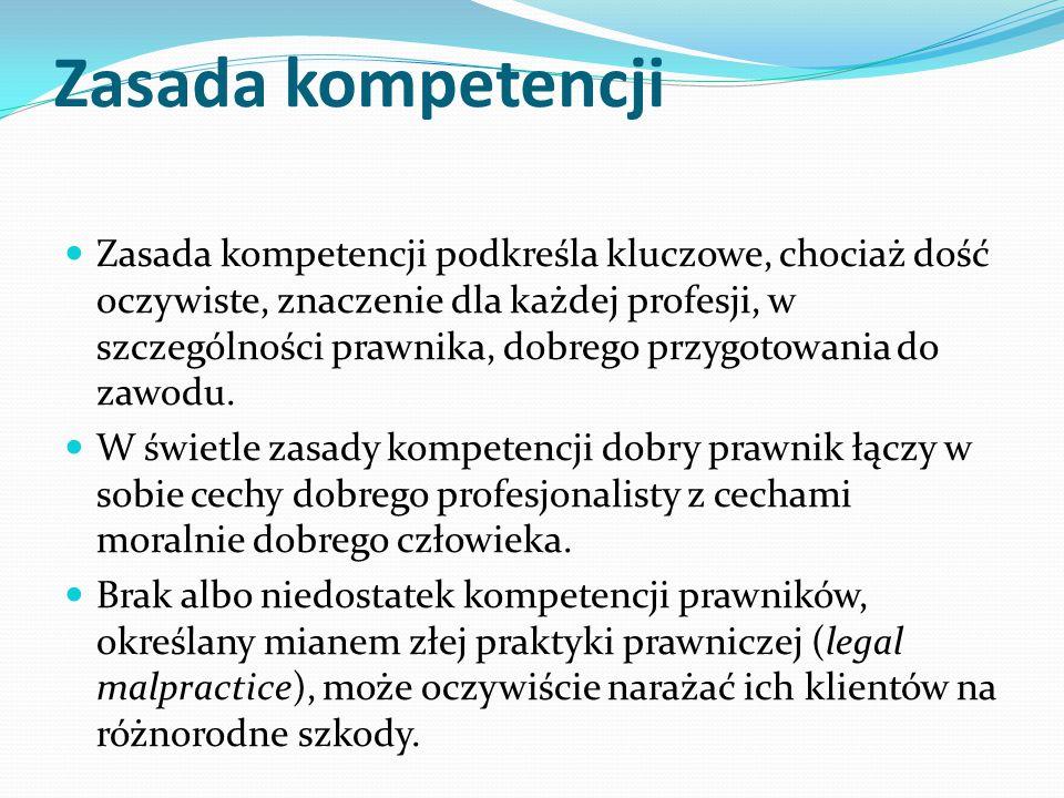 Zasada kompetencji