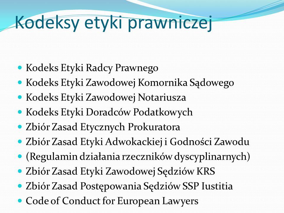 Kodeksy etyki prawniczej