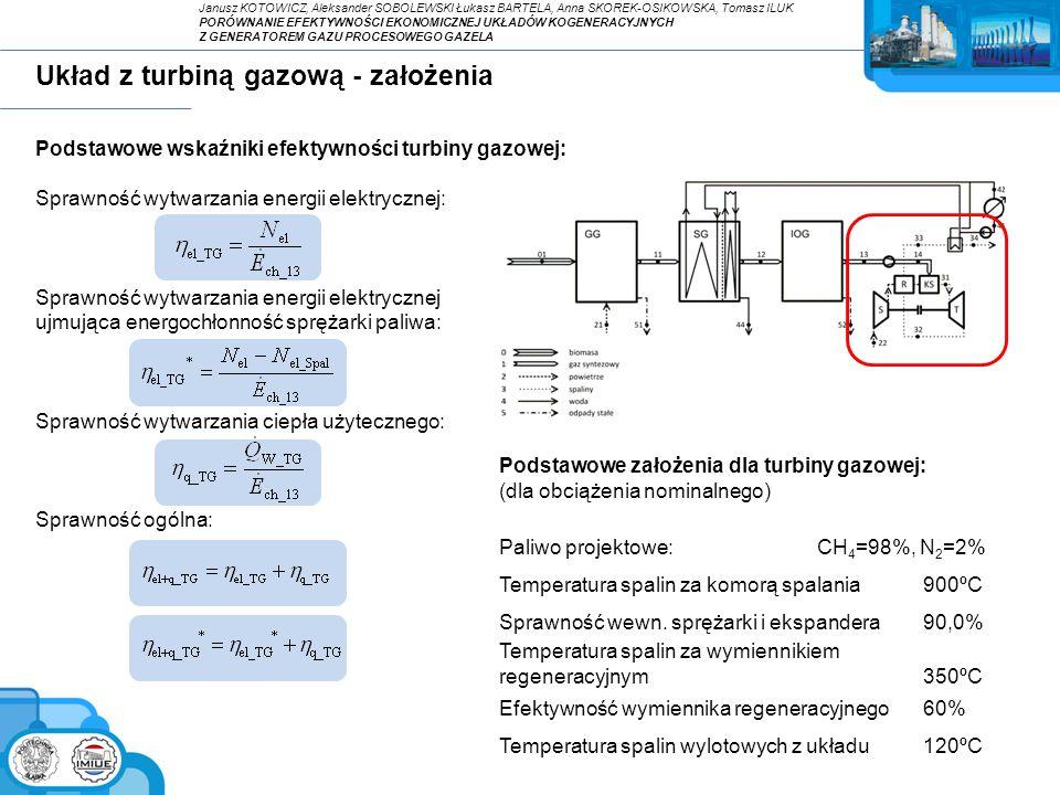 Układ z turbiną gazową - założenia