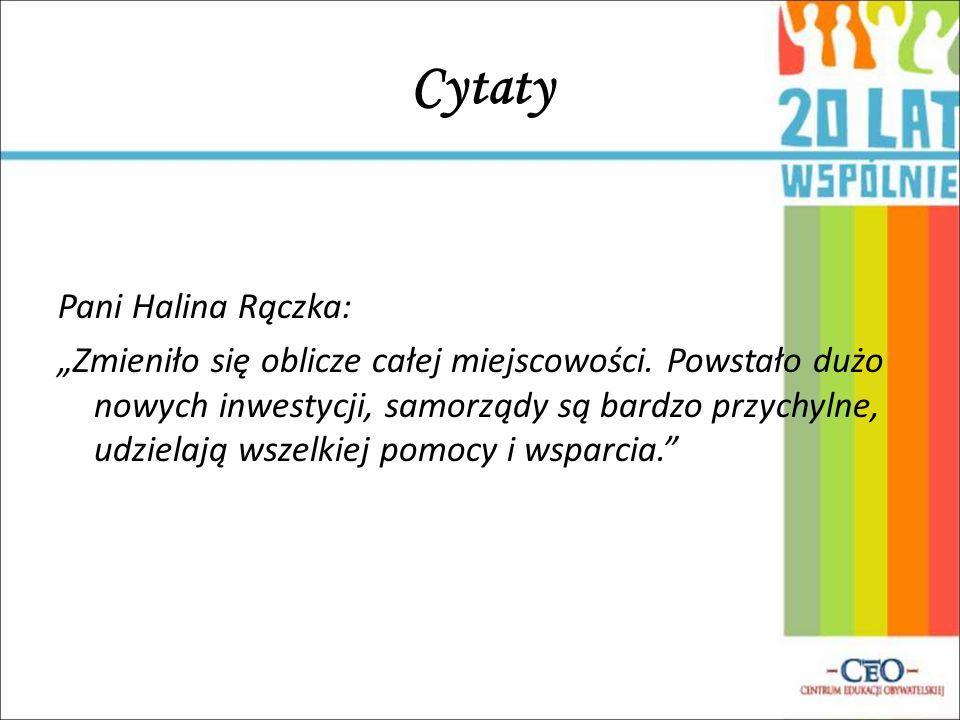 Cytaty Pani Halina Rączka: