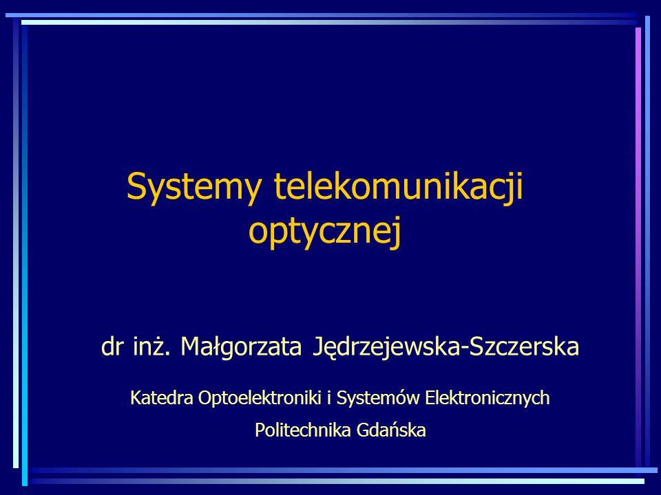 Systemy telekomunikacji optycznej